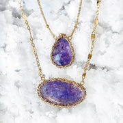 Tanzanite Oval Necklace In Gold