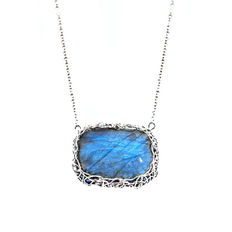 Labradorite Horizon Necklace in Silver