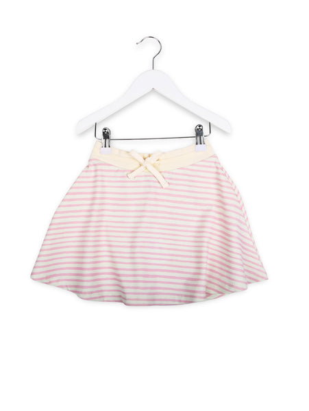 One We Like skirt in pink stripe.