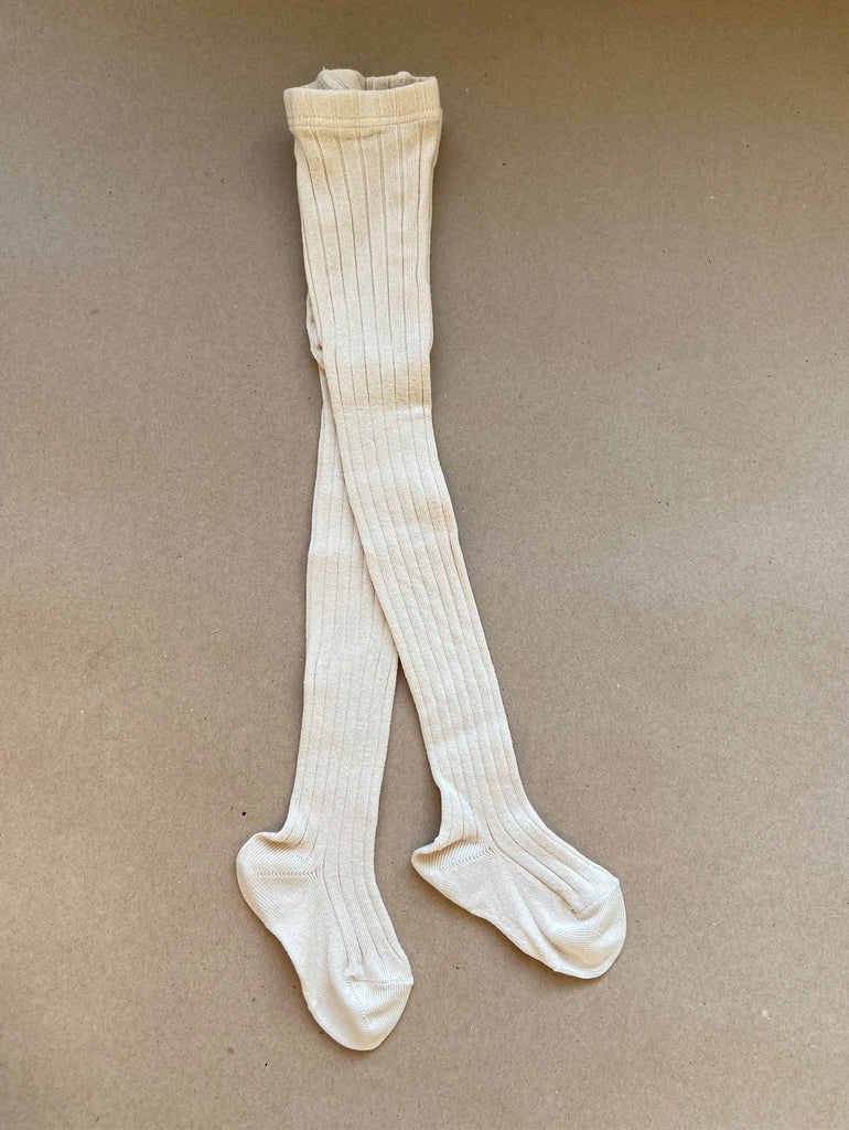 Ribbed white stockings from Condor at One We Like