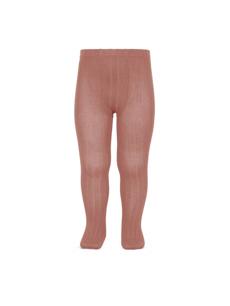 CÓNDOR Ribbed Stockings Terracotta