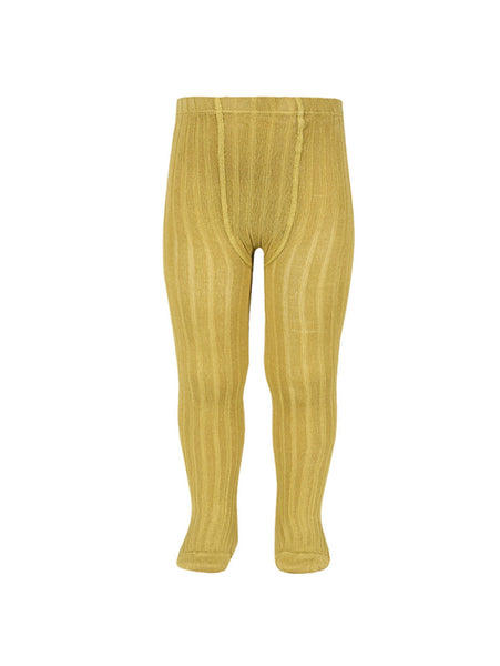 CÓNDOR Ribbed Stockings Mustard