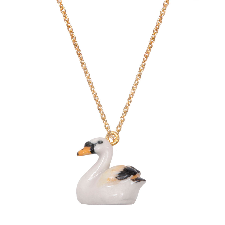 Necklace Mini Swan by A Weathered Penny