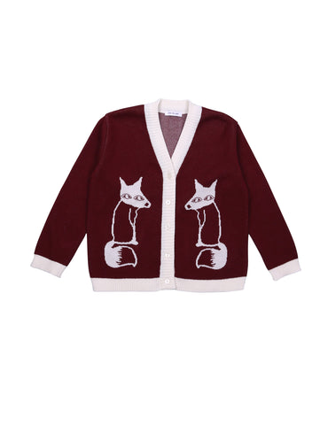 Knitted Cardigan Fox