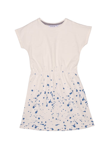 POP DRESS SS SPLASH White