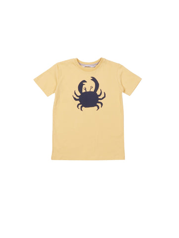 One We Like spring summer collection 2019, made of soft organic cotton. T-shirt with hand printed crab on front