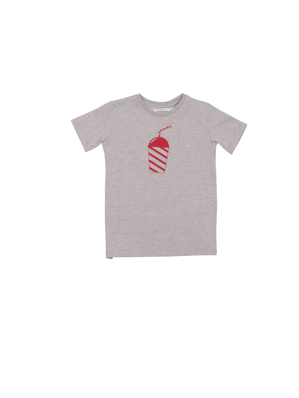 SS19 collection from One We Like made of organic cotton. Kids t-shirt with round neck and milkshake print