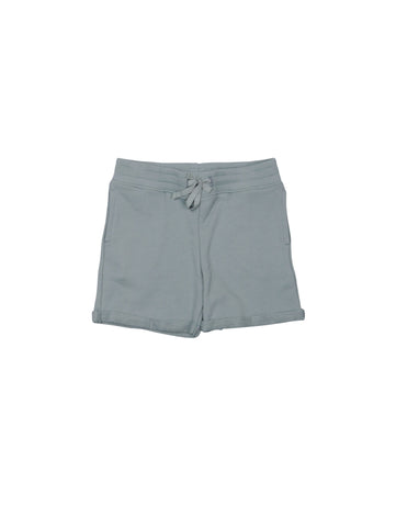 SS19 spring collection from One We Like made of 100% organic cotton. Sweatshirt Shorts with ribbed waist and adjustable string at the waist. Small fold by the legs.