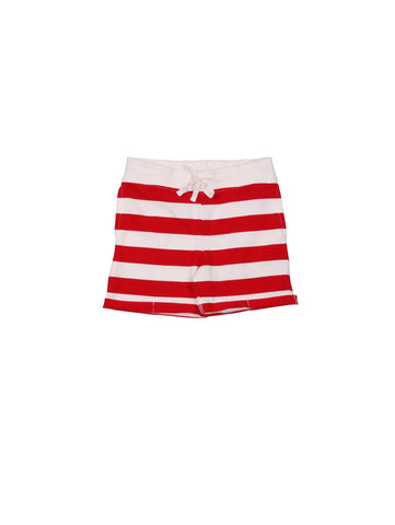 SS19 spring collection from One We Like made of 100% organic cotton. Sweatshirt Striped Shorts with ribbed waist and adjustable string at the waist. Small fold by the legs.