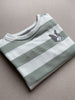 Basic Sweatshirt Stripe Bulldog Mint/White
