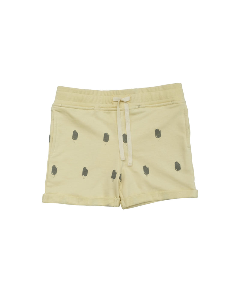 Cool shorts in soft organic cotton isweatshirt with ribbed waist and a herringbone drawstring for a perfect fit. Small fold-up at leg and a classic unisex model that suits kids of all ages. Made in Portugal
