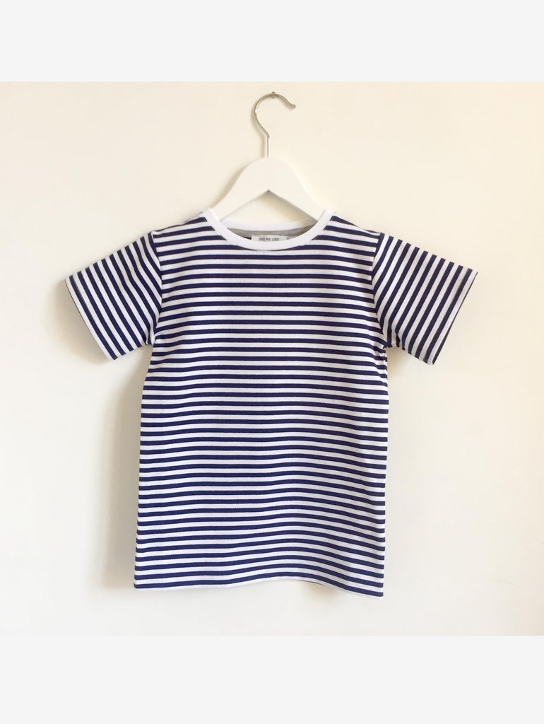 ONE SS STRIPE BLUE / WHITE