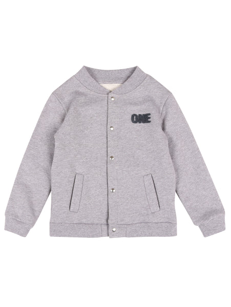 BASEBALL JACKET ONE Grey Melange