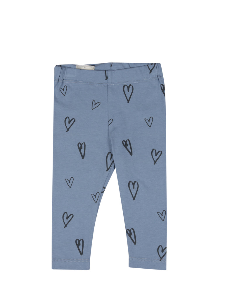 BABY LEGGINGS HEARTS Faded Denim