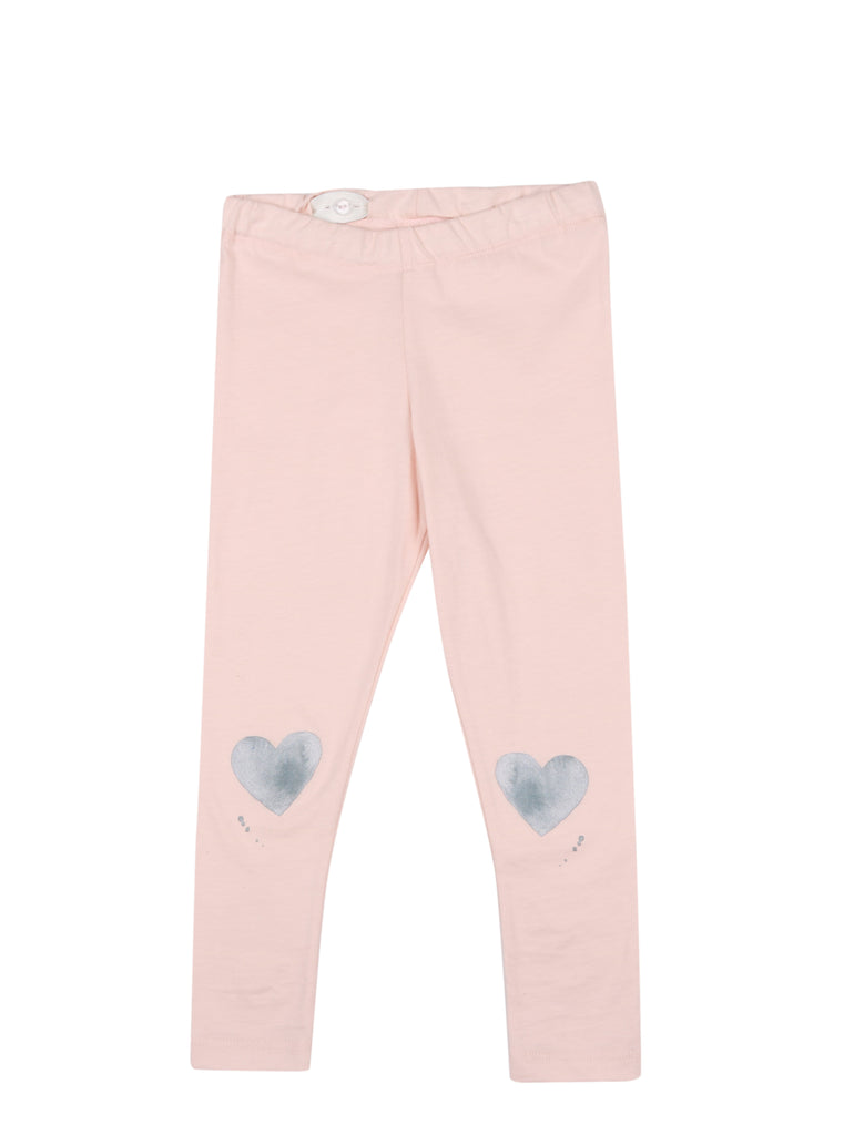 LEGGINGS HEART Soft Pink