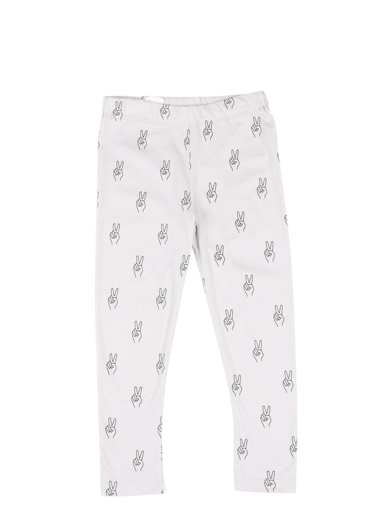 LEGGINGS PEACE AOP Vapour Grey