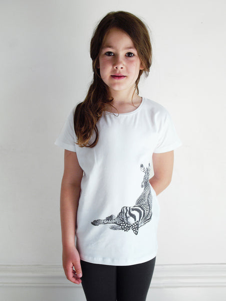 POP SS T-shirt Zebra White