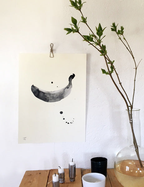 30x40cm poster with Banana print.