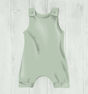 Sage Block Colour Romper