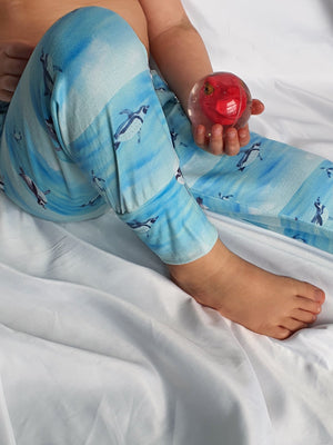 Pingu Swimming Leggings-Roopers Rompers