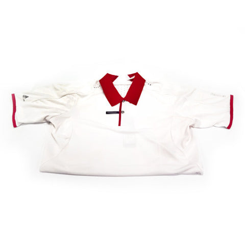 Adidas Climachill White and Red Polo (Mens)