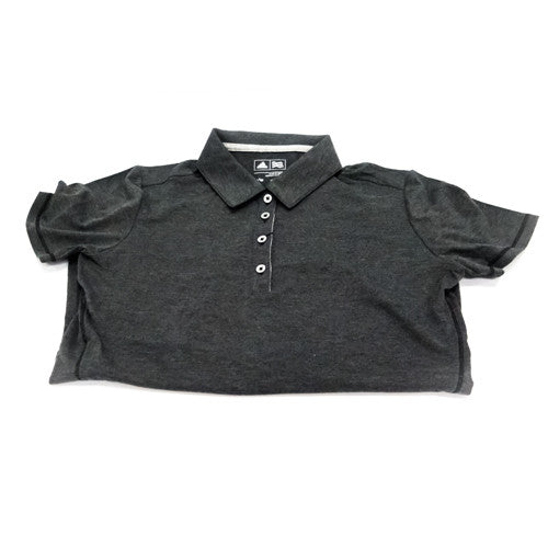 Adidas Heathered Black Golf Shirt (Womens)