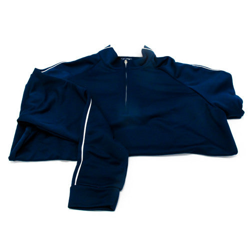 Three Strip Pullover (Midnight/White)