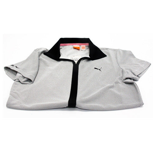 Puma VNeck with Verticle Stripe (Grey/Black) 567002