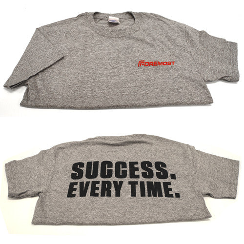 "Unisex T-Shirt - Light Grey ""Success Every Time"""