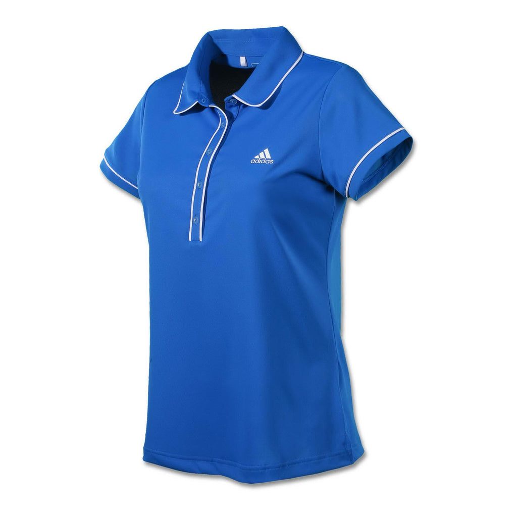 Women's Adidas  Contrast Piping Polo - Blue