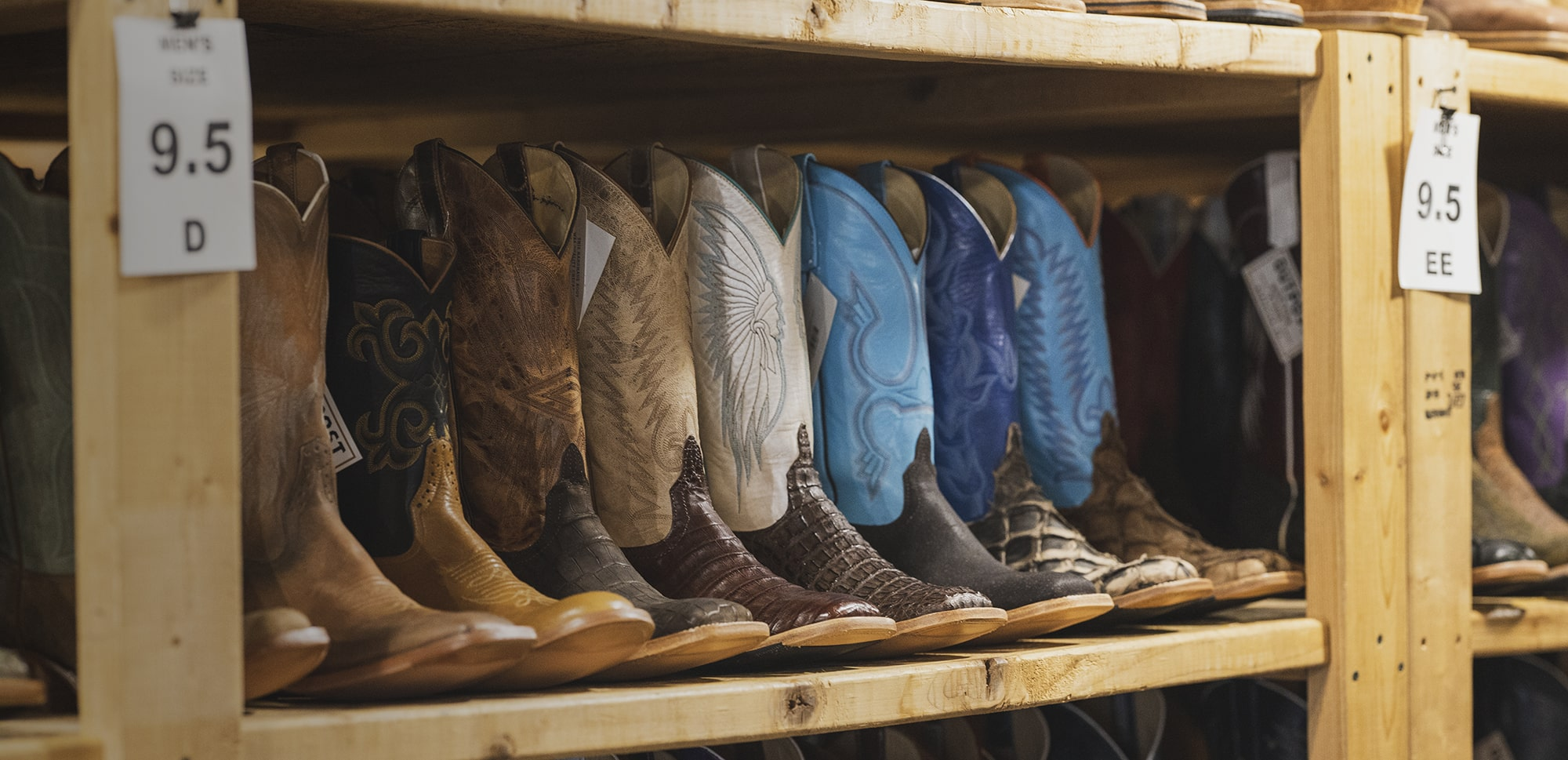 U.S.A made, built by hand, one-of-a-kind cowboy boots,all designed in house by us here at Outpost Western Store.