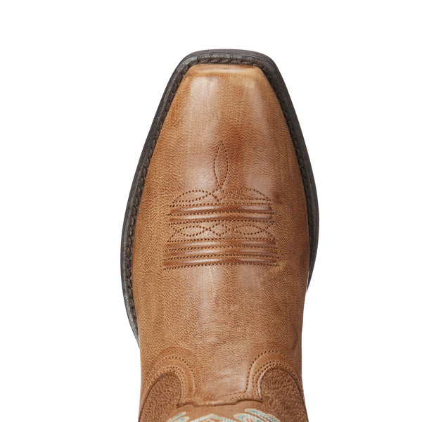 Ariat | Wood Brown Round Up Square Toe Ladies Boot