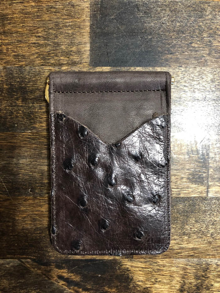 AB/Rios | FQ Ostrich Money Clip Wallet