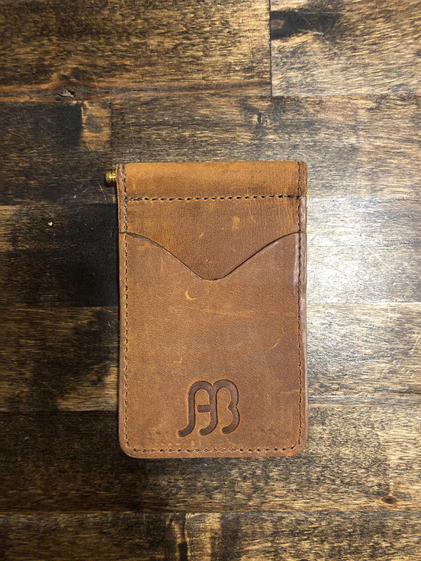AB/Rios | Flat Leather Money Clip Wallet