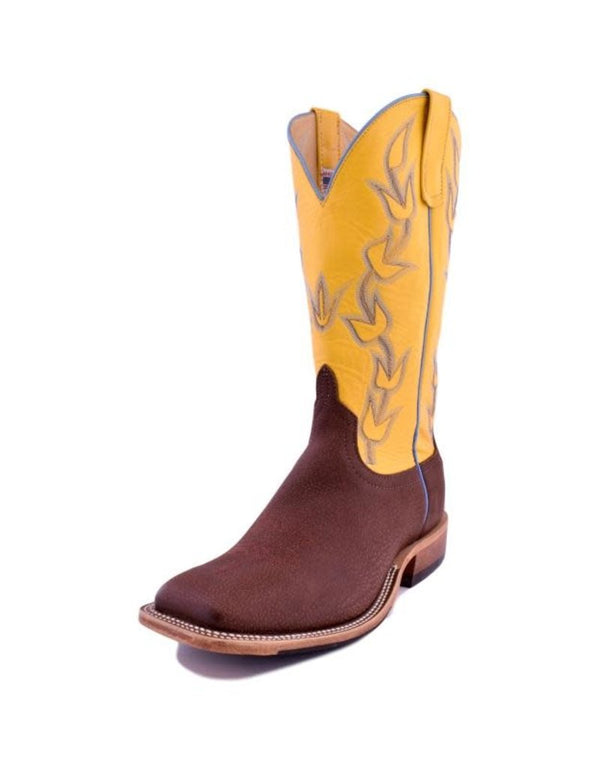 Anderson Bean | Brown Slanted Buffalo Ladies Boot