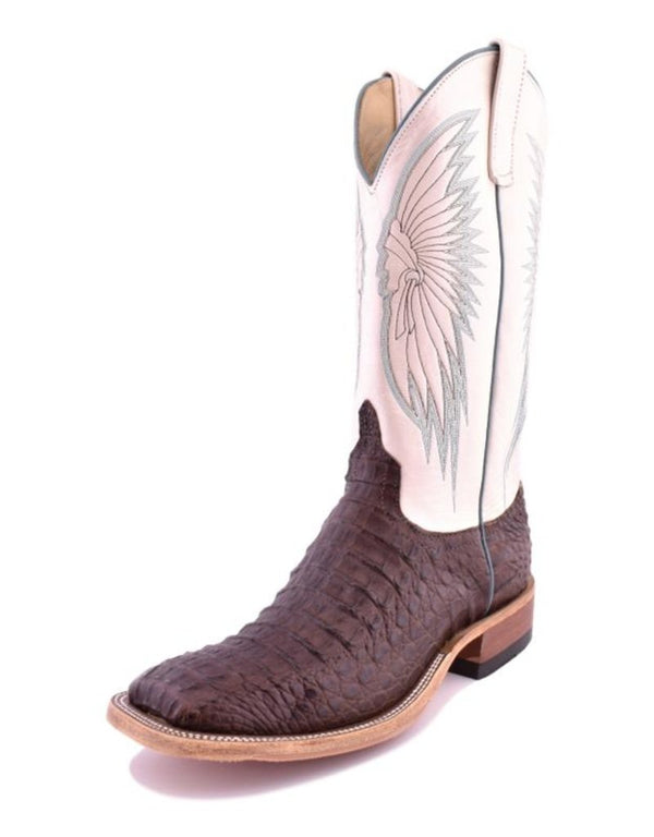 Anderson Bean | Chocolate Lux Hornback Caiman Ladies Boot