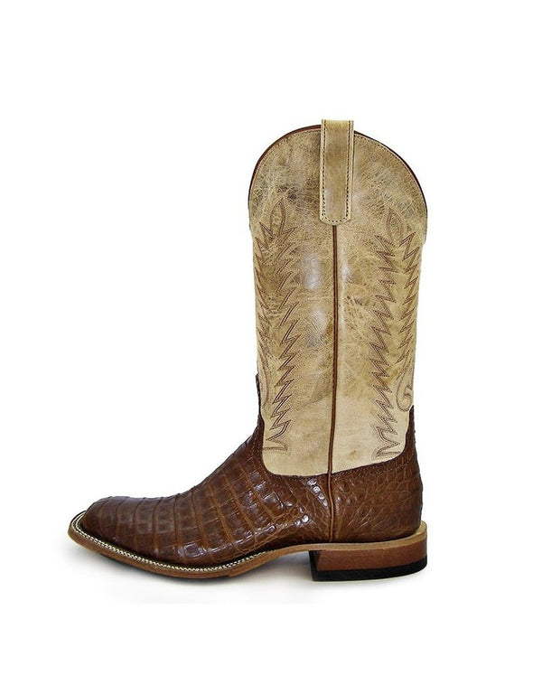 Anderson Bean | Tobacco Caiman Belly Boot