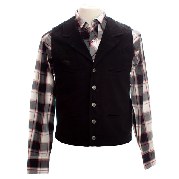 Wyoming Traders | Black Canvas Bronco Vest