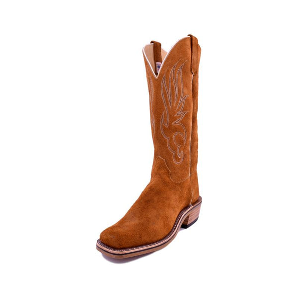 Olathe Boot Co. | All-Over Rust Crazy Horse Roughout Boot