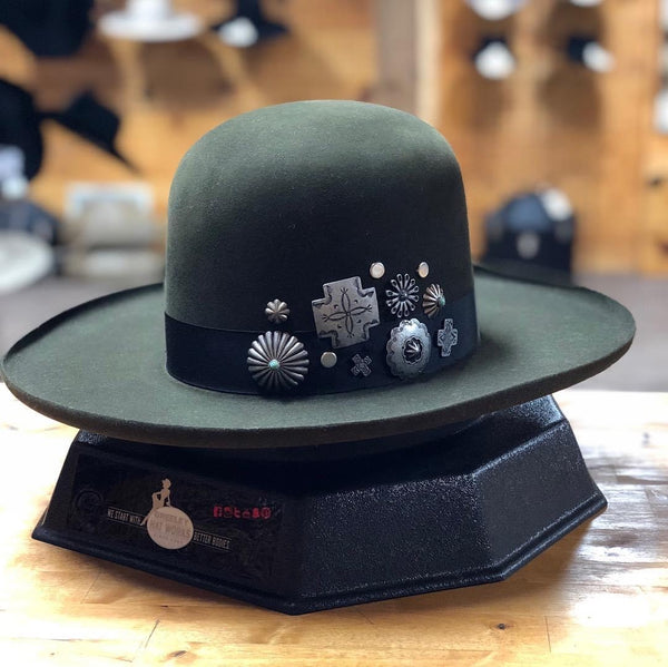 Double D Ranch | Old Pawn Hat Dark Moss Large