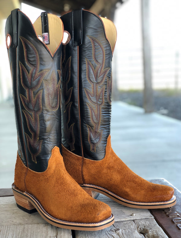 Olathe Boot Co. | Rust Ryan Roughout/Black Glove Boot