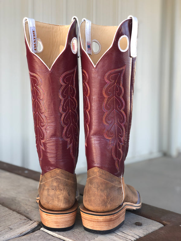 Olathe Boot Co. | Natural Brahma Bison Ladies Boot