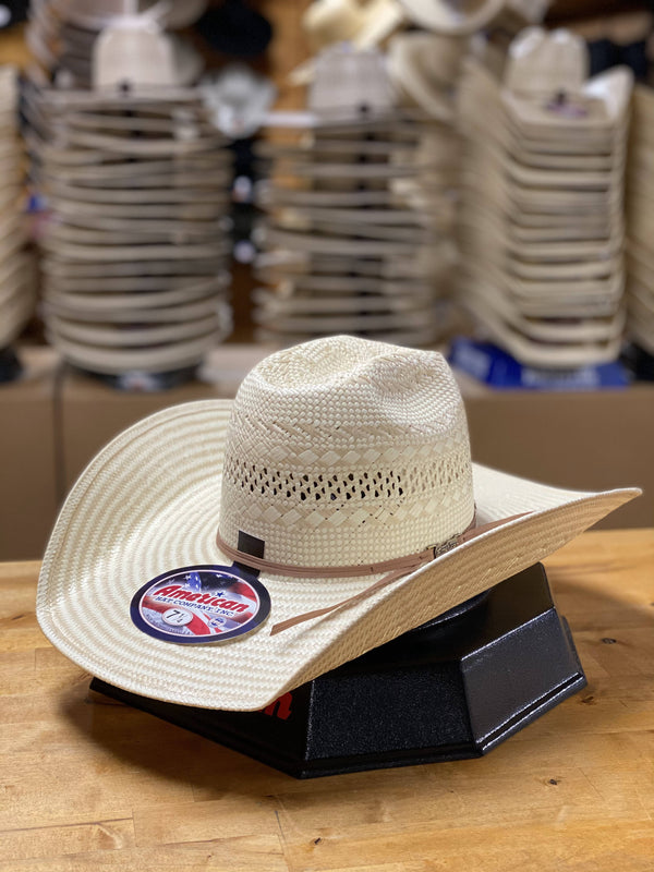 "American Hat Co. | 845 5"" Poli Rope Cowboy Hat"