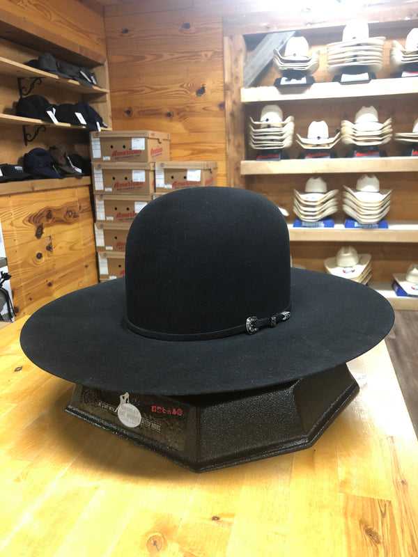 "Greeley Hat Works | Black Competitor Open 4 1/2"" Brim Felt Cowboy Hat"
