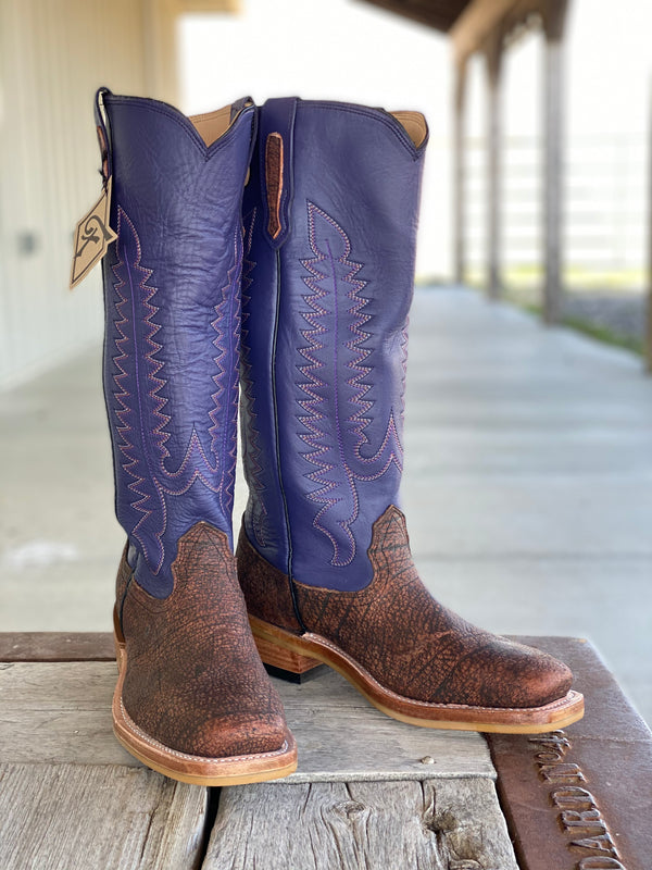Fenoglio Boot Co. | Rust Cape Buffalo Tall Top Boot