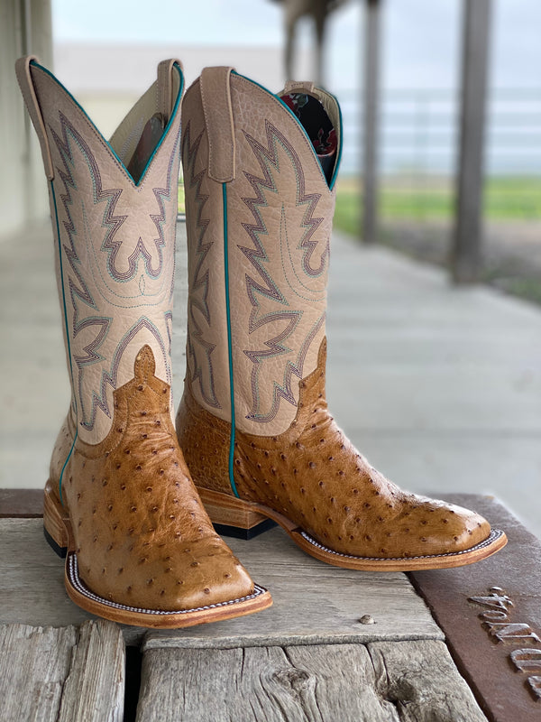 Macie Bean | Top Hand Antique Saddle Full Quill Ostrich Ladies Boot