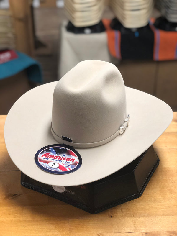 "American Hat Co. | Silver Belly Lucky 7 7X 4 1/4"" Brim Felt Cowboy Hat"