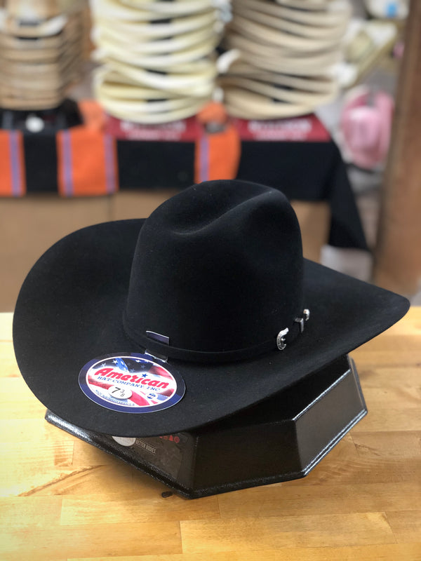 American Hat Co. | Black Lucky 7 7X Felt Cowboy Hat