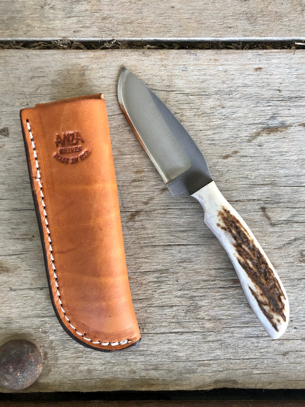 Anza | 409-FE-CD Elk Bone Handle Knife