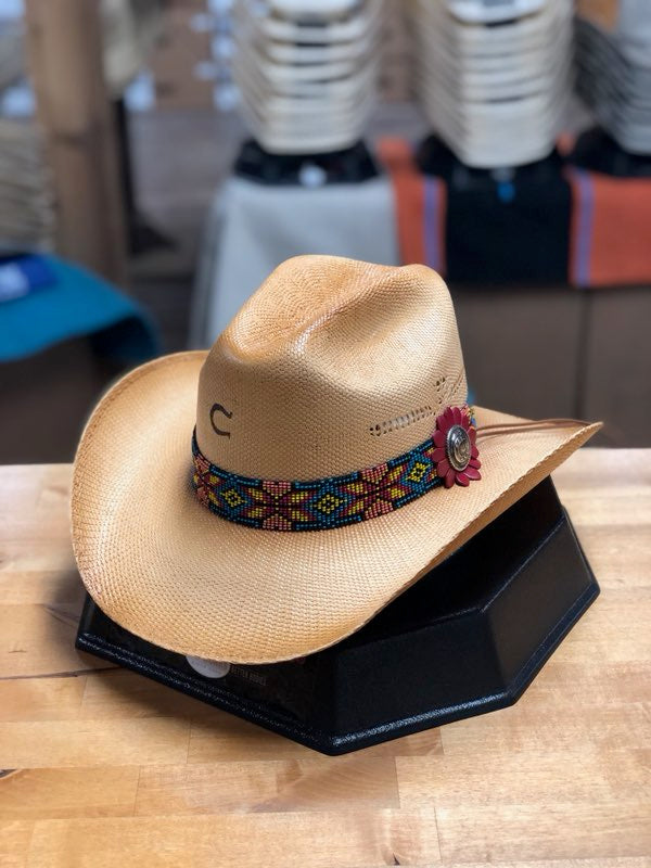 Charlie 1 Horse Gold Digger Straw Hat